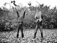Herbstspa (SabineausL) Tags: autumn leaves childhood children fun lumix leaf funny child laub herbst kinder kind lustig bltter kindheit spas 2015 sabineausl tz61 dmctz61