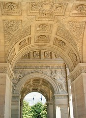 Underneath L'arc de triomphe du Carrousel, photo from my time living in Paris. (-Morgane-) Tags: travel sculpture paris france detail art history beautiful architecture canon outdoors photography larcdetriomphe