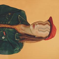 (Courtney Emery) Tags: portrait studio selfportrait noidentity orange no face hat conceptual femalemodel
