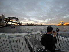 Down at Sydney Harbour!