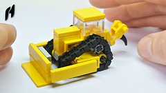 How to Build Small Lego Bulldozer (MOC) (hajdekr) Tags: dozer bulldozer vehicle crawler small simple inspiration lego buildingblocks building continuoustrackedtractor cat caterpillar blade ripper loader toy microscale micro track tracks howto manual tuto tutorial instructions assemblyinstructions buildingguide tip tips moc myowncreation