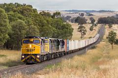 2017-01-08 SSR C504-C505-C509-C507 Euchareena 1877 (deanoj305) Tags: euchareena newsouthwales australia au c504 c505 c509 c507 1877 fletchers additional container train main western line nsw southern shorthaul railroad ssr