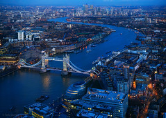 To the East (Tedz Duran) Tags: tedzduran shard london england uk eu europe blue hour twilight evening night photography sony ilce a7rii leica apo summicron 9omm asph cityoflondon cityscape eastend river thames tower bridge morelondon docklands docklandcity travel urban rural nightscape lights