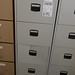 New grey filing cabinet