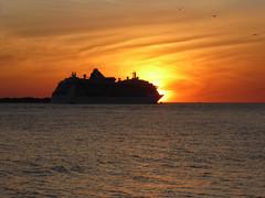 A Brilliant Departure - Port of Tampa - Florida (TropicViking) Tags: orange halloween gulf beach tampa florida fort cruiseship brillianceoftheseas portoftampa gulfofmexico sunset gulfsunset fortdesotopark egmontkey etheridge melissaetheridge