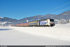 Guten Morgen Viola! (Marco Stellini) Tags: lokomotion vectron br 193 e193 rail traction company ennstal pongau altenmarkt siemens austrian alps ski trein