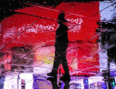 Circus Ghosts XXVI (Douguerreotype) Tags: uk gb britain british england london night reflection rain street people silhouette piccadillycircus wet weather upsidedown