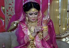 The Bride (Sajeeb75) Tags: bride pink indoor love golden yellow nikon night beauty girl dhaka bangladesh
