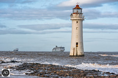 Cars go far, by sea. (alun.disley@ntlworld.com) Tags: rivermersey newbrightonlighthouse ulysses seatruckpace carferries weather shipping seascape tide irishferries clouds merseyside northwestengland uk portsandharbours water wirral