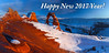 Happy New 2017 Year for all! (Gleb Tarro - www.fotowalk.com) Tags: new year greeting utah arches delicate arch snow