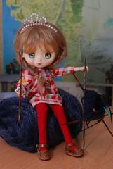 Progress (Little little mouse) Tags: jerryberry basicberry obitsubody estebebe honeysuckle doll dpns langjawollmagic hilariousfun knitting