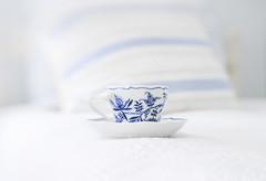 My favorite room... (jm atkinson) Tags: teacup porcelin blue bedroom pillow cottage lensbaby