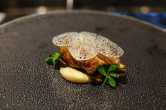 Jasmine Smoked Quail, Portobello, Leek, Radish (Premshree Pillai) Tags: singapore singaporesep16 meta restaurant dinner dinnerforone tastingmenu food modernkorean quail