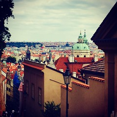 Amazing view from a trip up to Prague castle (Holly Marie Roberts) Tags: rooftops view city praguecastle czechrepublic prague