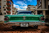 Falcon (Melissa Maples) Tags: antalya turkey türkiye asia 土耳其 apple iphone iphone6 cameraphone taillight text vehicle classic automobile car green falcon ford sign numberplate