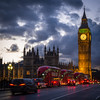 Buses and Big Ben (neil.bulman) Tags: night parliament england city clock capital government london dark clocktower bigben cars londonbuses buses housesofparliament uk traffic unitedkingdom gb