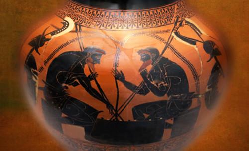 "Petteia - Ludus Latrunculorum  / Iconografía de las civilizaciones helenolatinas • <a style=""font-size:0.8em;"" href=""http://www.flickr.com/photos/30735181@N00/32522204255/"" target=""_blank"">View on Flickr</a>"