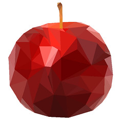 Low Poly Apple (chiaralily) Tags: apple red lowpoly icon photomanipulation photoshop chiaralily melbourne victoria