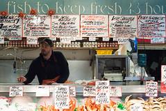 DSC_4443 (miss_michelle) Tags: city downtown farmersmarket fish market outdoors pikeplace rain rainy seattle street