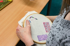 DSC_0720 (surreyadultlearning) Tags: embroidery sewing adulteducation surrey camberley art craft tutor uk painting calligraphy photography