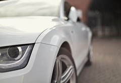 Just a car. Sort of... (tonny_christensen) Tags: car audi a7 white nikkor 50mm nikon odense blur vorsprungdurchsvindel software nice beautiful nox