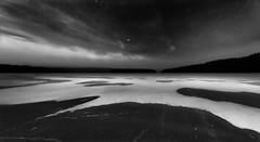 Winter night (Tore Thiis Fjeld) Tags: winternight winter snow ice lake forest sky stars clouds outdoors mono bw blackwhite norway osko nordmarka øyungen cold frozen nikon d800 samyang 14mm