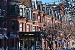Lucky Brand (AntyDiluvian) Tags: boston massachusetts backbay newburystreet shop store luckybrand denim facade
