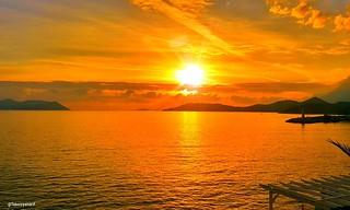 Mutlu akşamlar 🌛🌜�� arkadaşlar güzel bir pazar günü olsun ☉🌞��  1�#sunset 2�#günbatımı 3�#çukurbağyarımadası 4�#küçükçakıl 5�#clouds 6�#goodevining