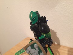 Firoz head update (xFlashDx) Tags: lego bionicle 2017 technic action figure toy robot knight green black silver gold sword shield