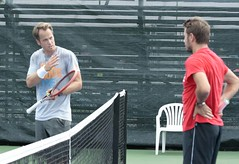 Day 4: Rogers Cup Montreal 2015 - Stan Wawrinka hitting with coach Magnus Norman (merlycan) Tags: canada montreal atp tennis rogerscup couperogers stadeuniprix magnusnorman stanwawrinka masters1000