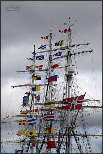 Flag display, Tall Ships 2015, Belfast, Northern Ireland