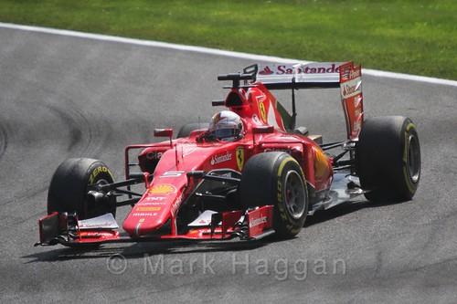 Sebastian Vettel in the 2015 Belgium Grand Prix
