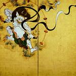 「風神雷神図屏風」(左隻)、俵屋宗達筆、京都・建仁寺、全期間展示