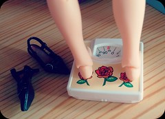 weight loss (plastigffantastig88) Tags: house feet scale toy miniature shoes doll dolls legs scales rement weight dollhouse weighing