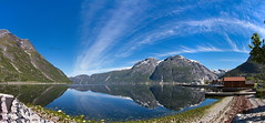 Eidfjord (BorisJ Photography) Tags: panorama holiday june norway canon eos no urlaub skandinavien norwegen fjord scandinavia stitched hardanger 2015 eidfjord stitchedpanorama 40d canoneos40d borisjusseit borisjphotography