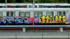 Graffiti (oerendhard1) Tags: urban streetart art angel graffiti rotterdam metro painted trains vandalism ret pitu guos