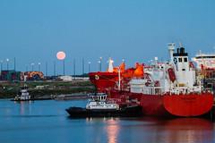 Full Moon Bow Gallant (hp181san) Tags: ship availablelight houston fullmoon maritime tugboat tug nautical pilot houstonshipchannel pilotage chemicaltanker