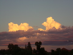 clouds at sunset (just me julie) Tags: sunset arizona sky clouds az tempe cloudyday upabove