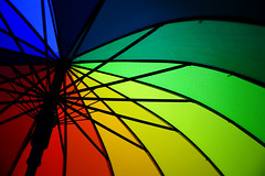 (monorail_kz) Tags: abstract umbrella rainbow colours