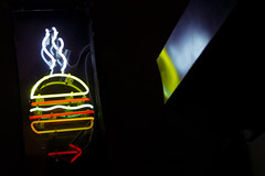 Neon Burger (jack.mihlenstedt) Tags: newyork newyorkcity nyc neon burger sign night colour