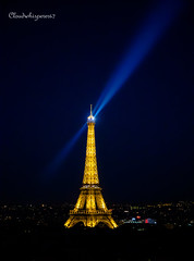 Paris by Night  - The Eiffel Tower (Cloudwhisperer67) Tags: canon 760d by night nuit yellow orange eiffel tower tour panorama city love paris sky cloudwhisperer67 cityscape scape skyline horizon blue bleue bleu cloud incredible france atmosphere chaos summer cloudwhisperer blur blurred chaotic ambiance chaotique whisperer raphael clouds golden skies skyscape flickr award flickrawardgallery flickraward5 landscape magic marvellous capture work photography urban lovely world exploration art light sunset dawn architecture sunlight travel town explore sun down europe europa sunrise colorful colors gold ray