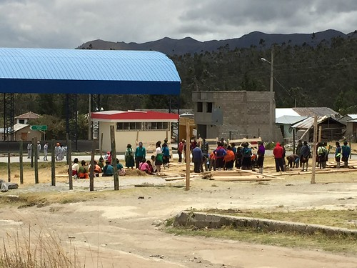 Something akin to a barn-raising in the town square in Guayama