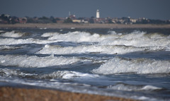 Waving To Southwold Lighthouse (pogmomadra) Tags: uk blue sea seascape water silver wednesday suffolk seaside nikon waves bokeh dunwich hbw happybokehwednesday d5300 bevclark pogmomadra