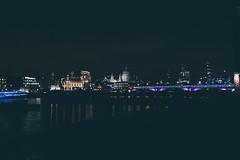 View towards the North Bank (Matthew-King) Tags: london saint st thames night river dark lights cityscape view time north bank pauls towards