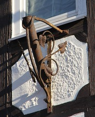 (:Linda:) Tags: germany town rusty thuringia halftimbered flagholder hildburghausen