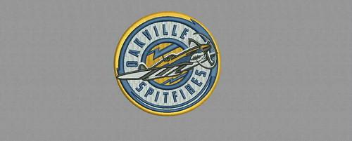 Oakville Spitfires - embroidery digitizing by Indian Digitizer - IndianDigitizer.com