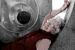 Nan (duck vs. chicken) Tags: old newzealand christchurch grandmother granny nan