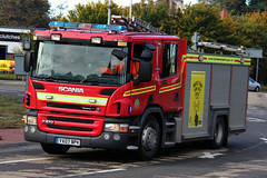 Humberside Fire & Rescue Service Scania P270 Driver Training Vehicle on Driver Training Run (PFB-999) Tags: road rescue water training truck fire blues run pump vehicle and leds driver service ladder hull beacons tender appliance rd garrison scania grilles brigade response unit 999 on lightbar humberside rotators fendoffs hfrs p270 yx07bpk