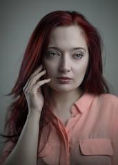 Magda (Jason Arber) Tags: red sexy london female hotel feminine poland polish auburn pale sensuality