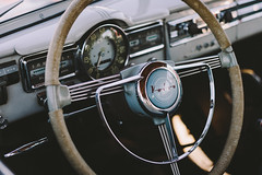 Volvo PV544 (Garret Voight) Tags: show old classic car minnesota wheel vintage volvo automobile steering antique interior minneapolis automotive swedish retro exotic chrome vehicle dashboard foreign dials b18 gauges pv544 wheelsofitaly